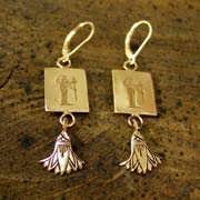 Virgo Earrings Gold 519