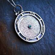 Emerald Tablet Pendant Mercury Silver (*Limited Edition*) 764