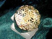 Flower of Life Ring Gold 190