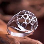 Fruit of Life Ring Silver 308