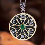 Genesis Pendant Silver and Gold 762