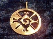 Hunab Ku Pendant Gold 323