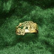 Кольцо «Японский журавль», золото 415