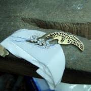 Japanese Crane Ring Gold 415
