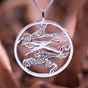 Japanese Stork Pendant Silver 580