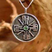 Light-Bliss Pendant Silver with Emerald 708