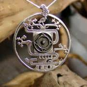 Mayan World Tree Pendant Silver