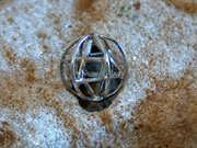 Merkaba With Prana Sphere Silver Small 82