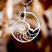 Nautilus Jewelry Pendant Silver 97