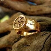טבעת האנושות זהב 606