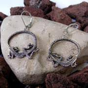 Ouroboros Earrings Silver 530