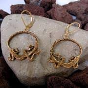 Ouroboros Earrings Gold 531