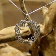 Ouroboros Pendant Silver 637