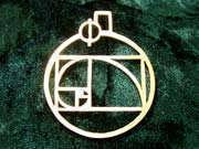 Phi Pendant Gold 176
