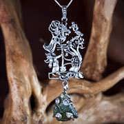 Star Children Pendant Silver (with Genuine Moldavite) 760
