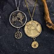 獅子座に太陽のシルバー製およびゴールド製タリスマン (*Limited Edition*) 784