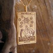 Tarot Star Card Pendant Gold 572