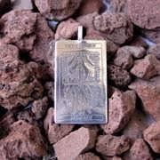 Tarot Chariot Card Pendant Silver 524