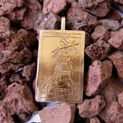 Colgante de oro Tarot El Loco 523