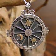 Personalized Trinity Talisman Silver And Gold 688