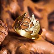 Vesica Pisces Ring Gold 682