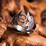 Vesica Pisces Ring Silver 679