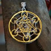 Cubo Metatron 24K oro and Silver