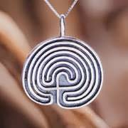 Labyrinth Pendant Silver 306