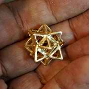 Alchemy/Vector Equilibrium Small Pendant Gold 945