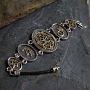 Alchemical Cosmic Tree Bracelet Silver and Gold