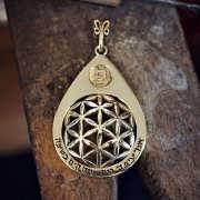 Drop in the Ocean - Gold Pendant