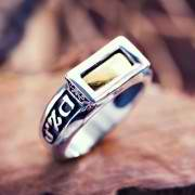 Five Metals Ring Silver 48