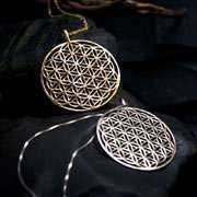 Flower of Life Pendant - Gold 17