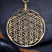 פרח החיים משובץ זהב (שיבוץ בצורת זרע החיים) 433