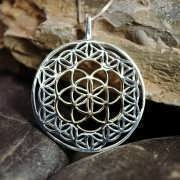 Flower and Seed of Life Silver and Gold 831
