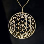 Flower and Seed of Life Gold 830