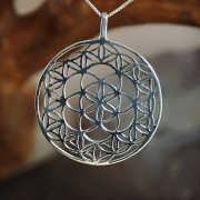 Flower and Seed of Life Silver