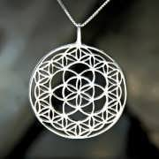 Flower and Seed of Life Silver 829