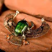 Genuine Egyptian Scarab Talisman Gold 152