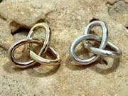 Кулон «Гордиев узел», серебро, большой 58