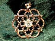 Inlaid Egg of Life Star Gold with Citrine 186