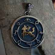 Jupiter Sagittarius Round Talisman Silver and Gold (*Limited Edition*) 940
