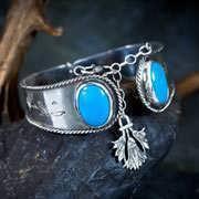 Ka Bracelet Silver with Turquoise 28