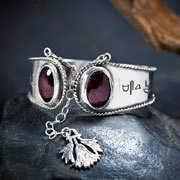 Ka Bracelet Silver with Garnet 28