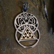 The Light Pendant Silver and Gold 873