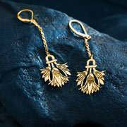 Lotus Earrings Gold 121