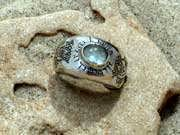 Lotus ring silver with Labradorite 20