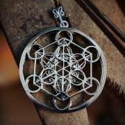 Кулон «Куб Метатрона», серебро 341