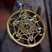 Metatron Cube Gold and Silver 852