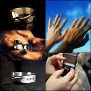 Кольцо «Лента Мёбиуса», серебро 70